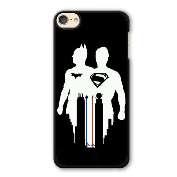 Batman And Superman BlackAndWhite Phonecase Cover Case For Apple Ipod 4 Ipod 5 Ipod 6