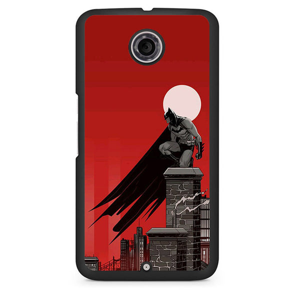 Batman In Red Phonecase Cover Case For Google Nexus 4 Nexus 5 Nexus 6