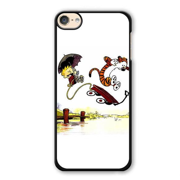 Calvin And Hobbes Playing Together Phonecase Cover Case For Apple Ipod 4 Ipod 5 Ipod 6