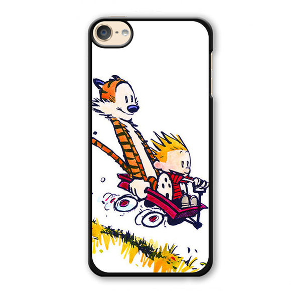 Calvin And Hobbes Riding Imagination Car Phonecase Cover Case For Apple Ipod 4 Ipod 5 Ipod 6