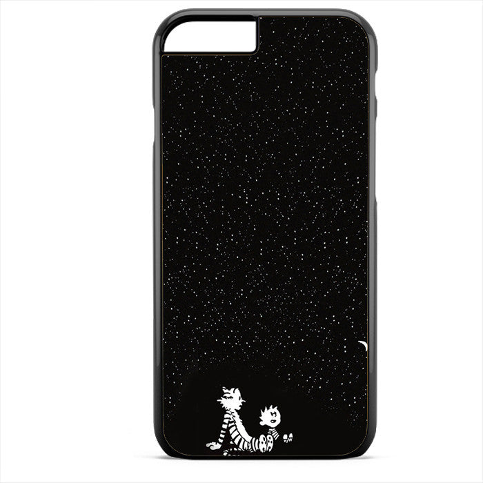 Calvin And Hobbes Under The Night Sky Phonecase For Iphone 4/4S Iphone 5/5S Iphone 5C Iphone 6 Iphone 6S Iphone 6 Plus Iphone 6S Plus