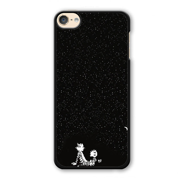 Calvin And Hobbes Under The Night Sky Phonecase Cover Case For Apple Ipod 4 Ipod 5 Ipod 6