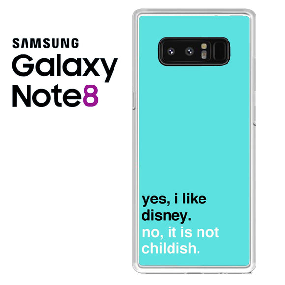 Disney Quotes in Blue - Z - Samsung Galaxy Note 8 Case - Tatumcase