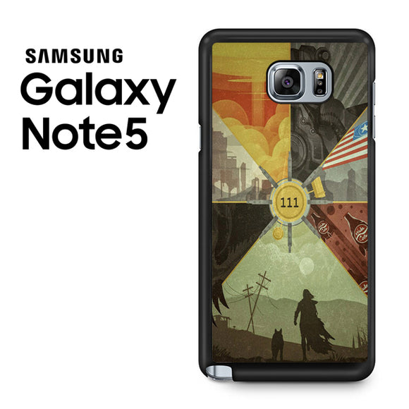 Fallout 4 Collage Arts - Samsung Galaxy Note 5 Case - Tatumcase