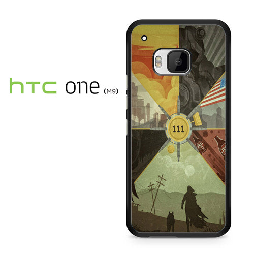 Fallout 4 Collage Arts - HTC ONE M9 Case - Tatumcase
