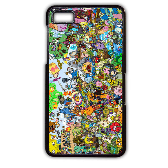 Adventure Time All Character Happy TATUM-310 Blackberry Phonecase Cover For Blackberry Q10, Blackberry Z10 - tatumcase