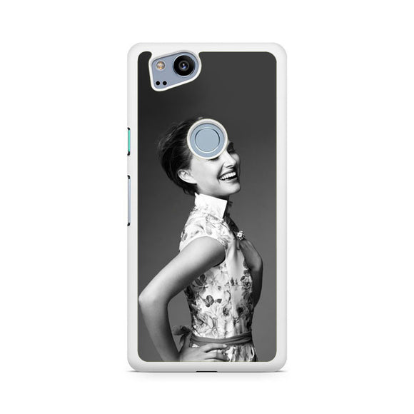 Natalie Portman Laughing, Custom Phone Case, Google Pixel 2 Case, Pixel 2 Case