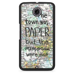 Paper Towns John Green Phonecase Cover Case For Google Nexus 4 Nexus 5 Nexus 6