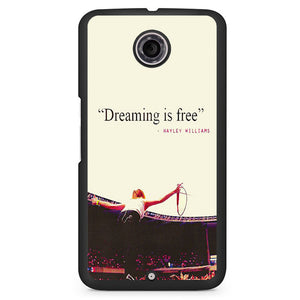 Paramore Quotes Phonecase Cover Case For Google Nexus 4 Nexus 5 Nexus 6