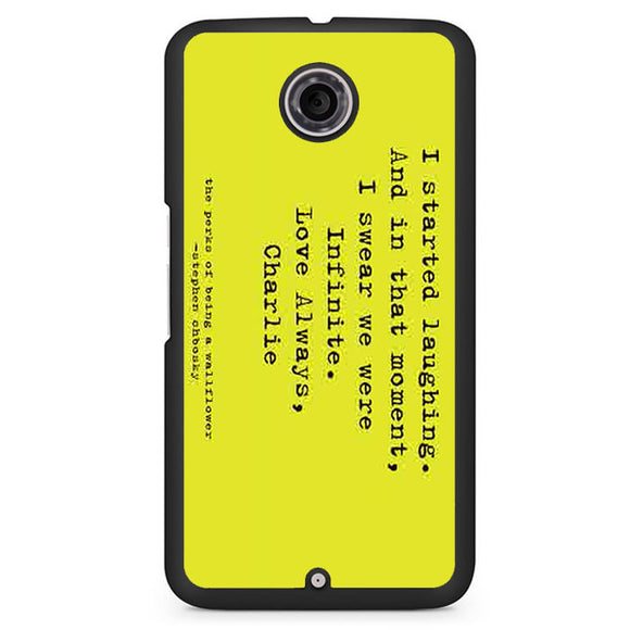 Perks Of Being A Wallflower Phonecase Cover Case For Google Nexus 4 Nexus 5 Nexus 6