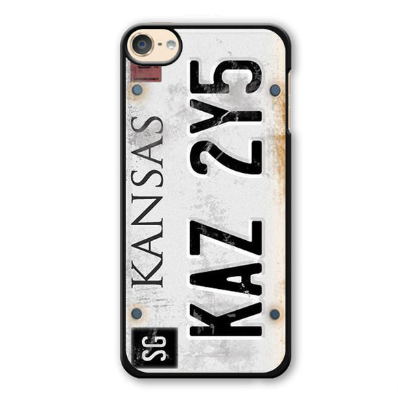 Personalized Vintage Supernatural License Plate Number Phonecase Cover Case For Apple Ipod 4 Ipod 5 Ipod 6