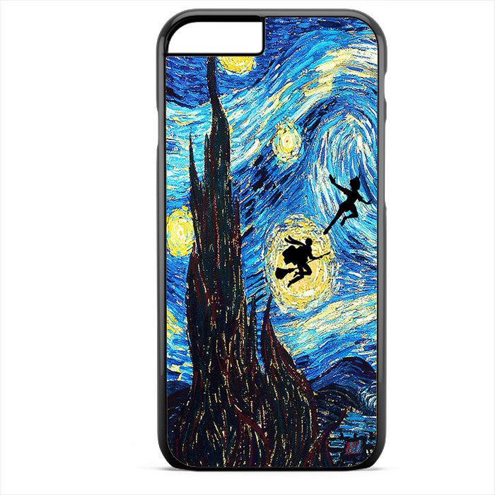 Peter Pan And Harry Potter Starry Night Phonecase For Iphone 4/4S Iphone 5/5S Iphone 5C Iphone 6 Iphone 6S Iphone 6 Plus Iphone 6S Plus