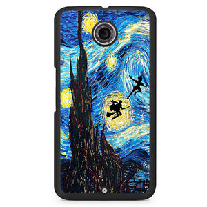 Peter Pan And Harry Potter Starry Night Phonecase Cover Case For Google Nexus 4 Nexus 5 Nexus 6