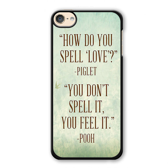 Piglet And Pooh Quotes Phonecase Cover Case For Apple Ipod 4 Ipod 5 Ipod 6
