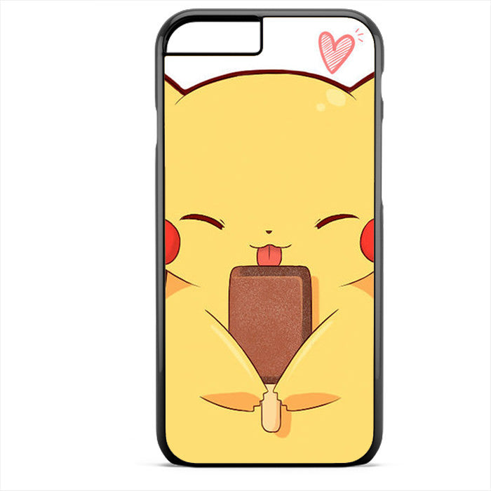 Pikachu And Popsicle Ice Cream Phonecase For Iphone 4/4S Iphone 5/5S Iphone 5C Iphone 6 Iphone 6S Iphone 6 Plus Iphone 6S Plus