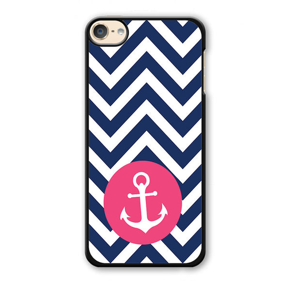 Pink Anchor Chevron Phonecase Cover Case For Apple Ipod 4 Ipod 5 Ipod 6