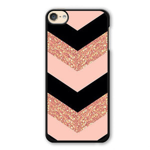 Pink Glitter Chevron Phonecase Cover Case For Apple Ipod 4 Ipod 5 Ipod 6