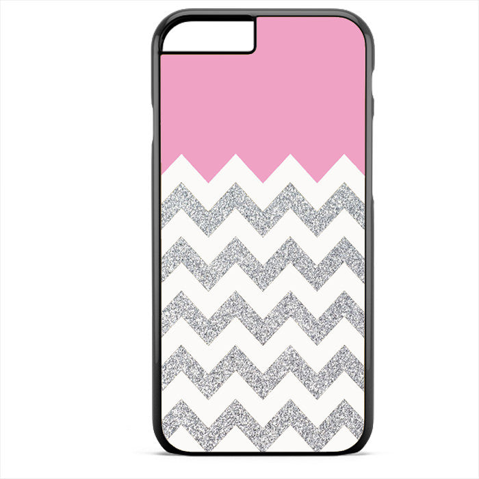 Pink Silver Glitter Chevron Phonecase For Iphone 4/4S Iphone 5/5S Iphone 5C Iphone 6 Iphone 6S Iphone 6 Plus Iphone 6S Plus