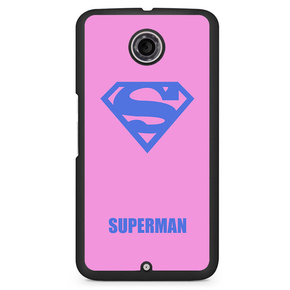 Pink Superman Phonecase Cover Case For Google Nexus 4 Nexus 5 Nexus 6