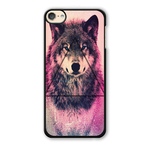 Pink Wolf Triangle Phonecase Cover Case For Apple Ipod 4 Ipod 5 Ipod 6