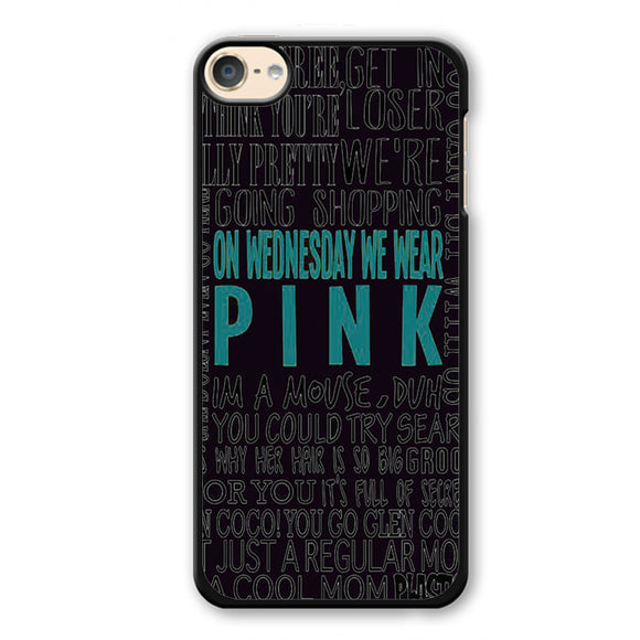 Pink On Wednesday Phonecase Cover Case For Apple Ipod 4 Ipod 5 Ipod 6