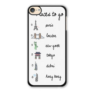 Place To Go List Phonecase Cover Case For Apple Ipod 4 Ipod 5 Ipod 6