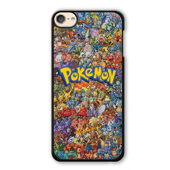 Pokemon Colage All Character Phonecase Cover Case For Apple Ipod 4 Ipod 5 Ipod 6