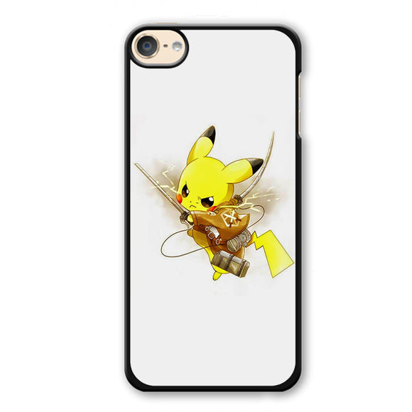 Pokemon Pikachu Attack Ontitan Shingeki No Kyojin Phonecase Cover Case For Apple Ipod 4 Ipod 5 Ipod 6