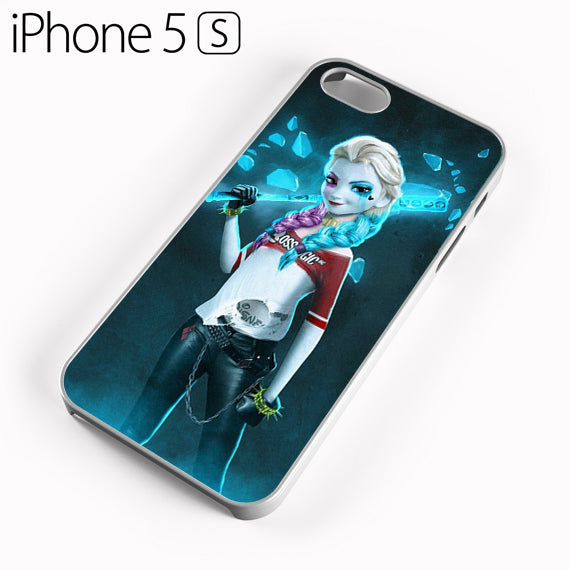 Princess Elsa With Harley Quinn Dress Y - iPhone 5 Case - Tatumcase