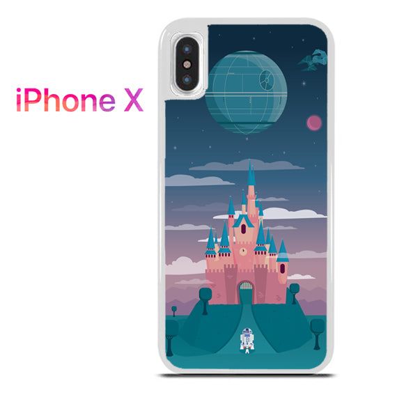 new style febda 8069f R2D2 In Disney Castle for iPhone X
