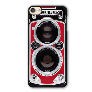 Red Rolleiflex Dual Lens Phonecase Cover Case For Apple Ipod 4 Ipod 5 Ipod 6