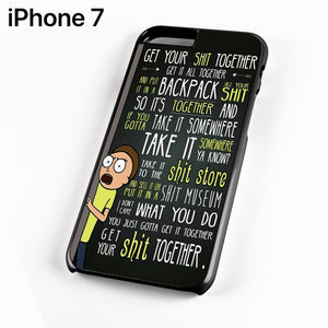 Rick And Morty Quotes AA - iPhone 7 Case - Tatumcase