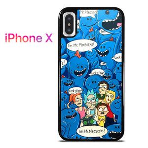 buy online 48339 29877 Rick and Morty Mr Meeseeks 3 GT for iPhone X
