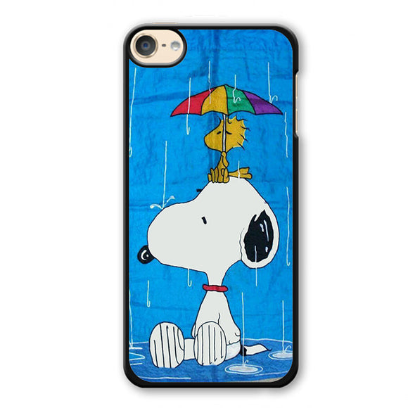 Snoopy In Rain Phonecase Cover Case For Apple Ipod 4 Ipod 5 Ipod 6