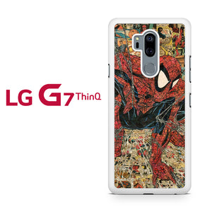 Spiderman Comic Pattern YT, LG G7 ThinQ Case, Tatumcase