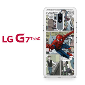 Spiderman in Comic T, LG G7 ThinQ Case, Tatumcase