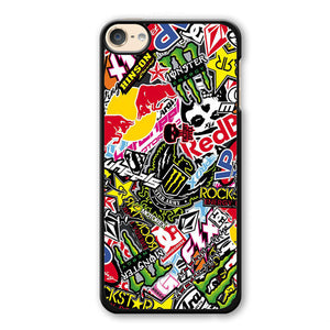 Sticker Bomb Redbull Monster Rock Phonecase Cover Case For Apple Ipod 4 Ipod 5 Ipod 6