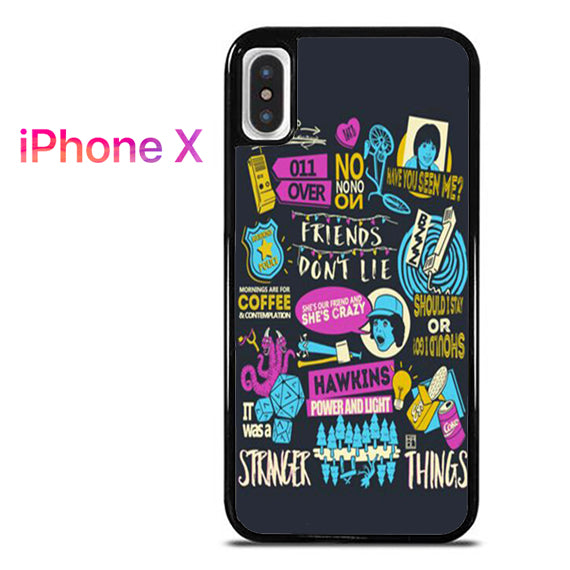 brand new e50e6 f48db Stranger Things Collage Y for iPhone X