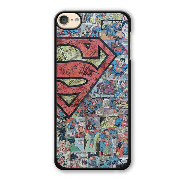 Superman Comic Pattern Phonecase Cover Case For Apple Ipod 4 Ipod 5 Ipod 6
