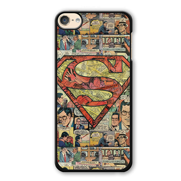 Superman Superhero Comic Book Phonecase Cover Case For Apple Ipod 4 Ipod 5 Ipod 6