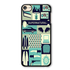 Supernatural Collage Art Phonecase Cover Case For Apple Ipod 4 Ipod 5 Ipod 6