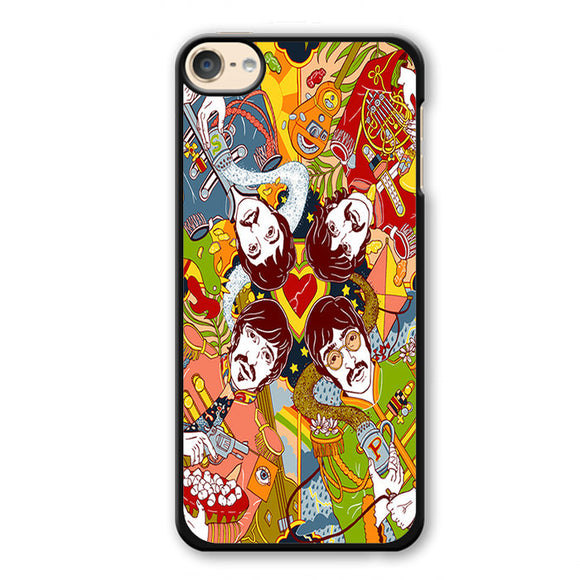 The Beatles Cartoon Phonecase Cover Case For Apple Ipod 4 Ipod 5 Ipod 6