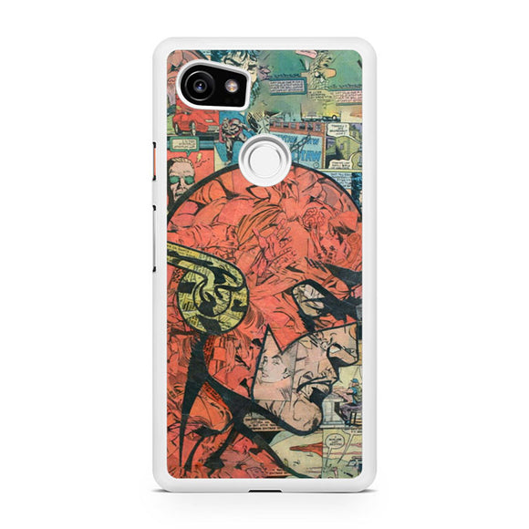 The Flash in Comic Pattern T, Custom Phone Case, Google Pixel 2 XL Case, Pixel 2 XL Case, Tatumcase