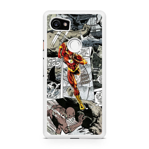 The Flash in Comic T, Custom Phone Case, Google Pixel 2 XL Case, Pixel 2 XL Case, Tatumcase