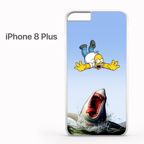 The Simpson Vs Shark AB - iPhone 8 Plus Case - Tatumcase