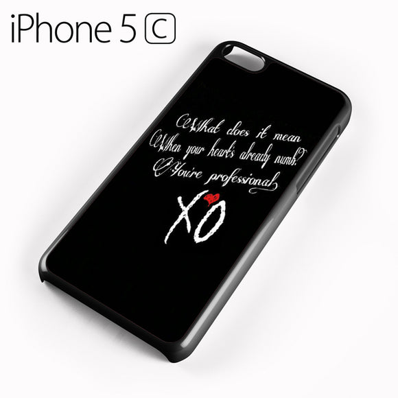 The Weeknd XO Quotes AB - iPhone 5C Case - Tatumcase