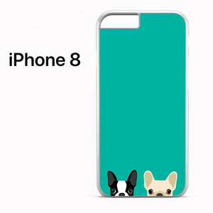 Watching Boston Terrier & French Bulldog - iPhone 8 Case - Tatumcase