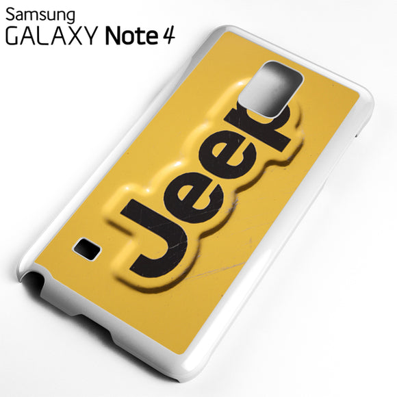 Yellow Jeep Plat - Samsung Galaxy Note 4 Case - Tatumcase