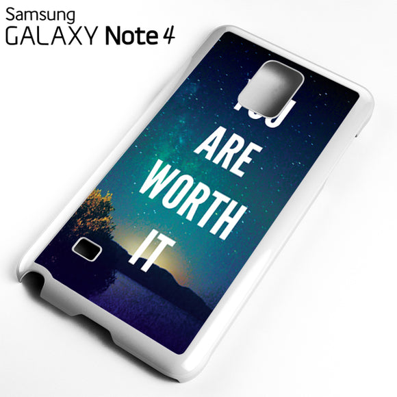 You Are Worth It - Samsung Galaxy Note 4 Case - Tatumcase