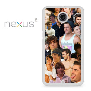 Zac Efron Collage - Nexus 6 Case - Tatumcase